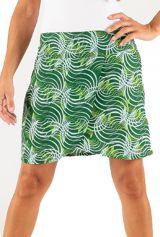 Jupe mi-longue colorée et imprimée Verte Diaby 286017