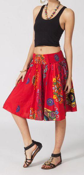 Jupe mi-longue colorée Valérie N1 268122
