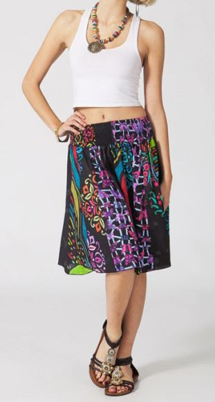Jupe mi-longue colorée Valérie N2 268125