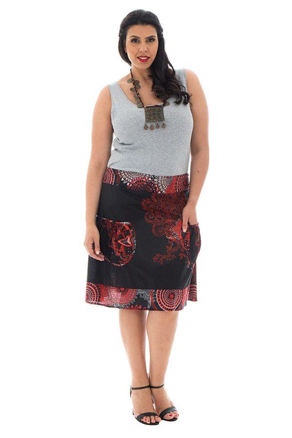 Jupe mi-longue grande taille colorée pour l' été Velvet 289971