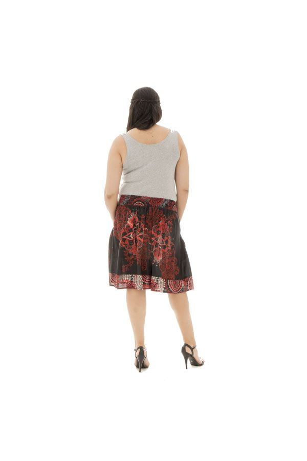 Jupe mi-longue grande taille colorée pour l' été Velvet 289972