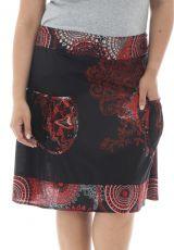 Jupe mi-longue grande taille colorée pour l' été Velvet 291968