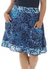 Jupe mi-longue grande taille originale pour l' été Velvet 291965