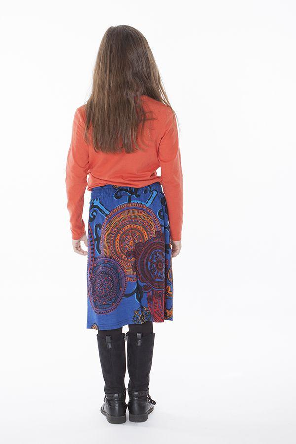 Jupe mi longue pour fillette avec imprimée Louisette 286149