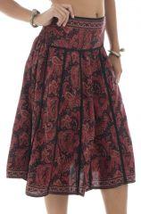 jupe mi mollet style gipsy avec imprimés flika 291866
