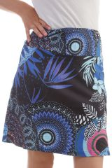 Jupe Noire en polyester avec imprimés mandalas Poppy 297873