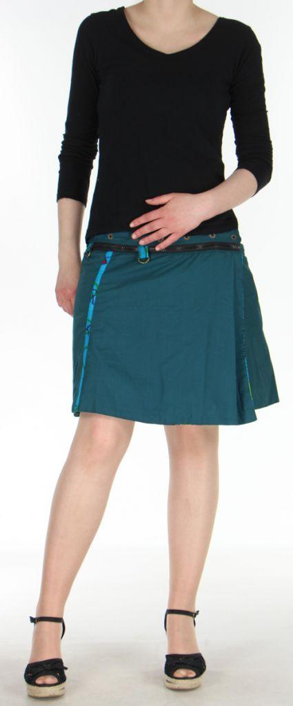 Jupe ou Surjupe courte très originale et colorée Bleue Pili 272805