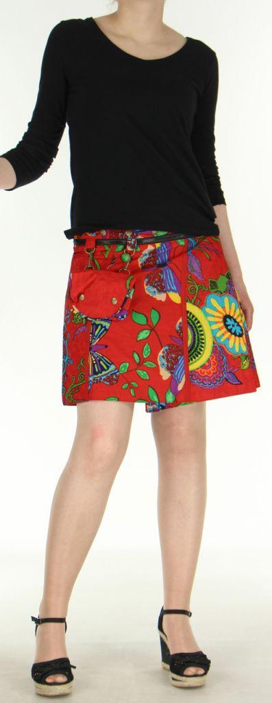 Jupe ou Surjupe courte très originale et colorée Rouge Pili 272787