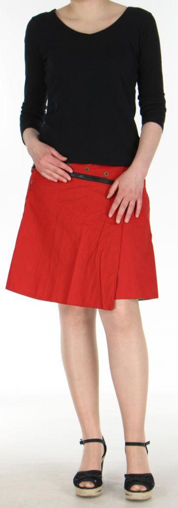 Jupe ou Surjupe courte très originale et colorée Rouge Pili 272788