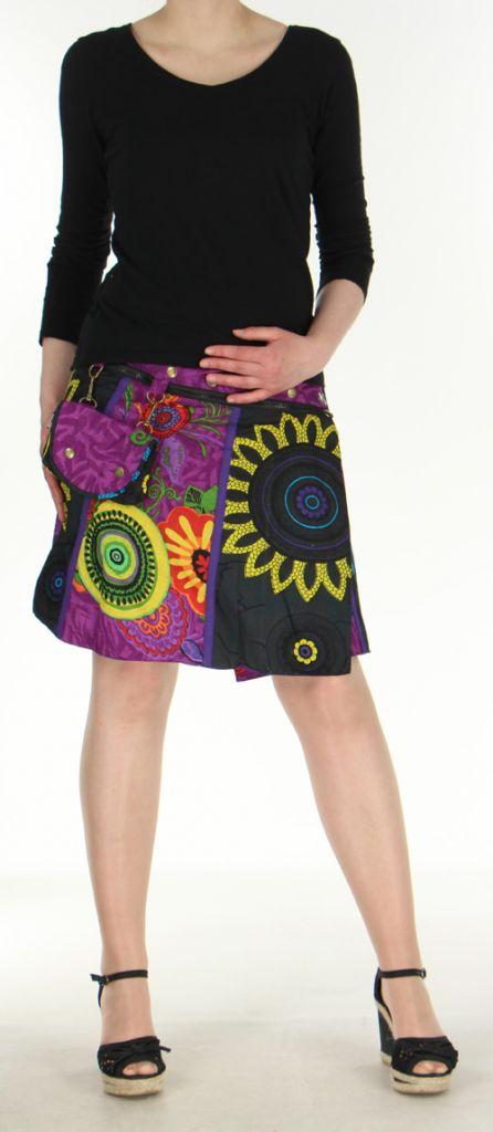 Jupe ou Surjupe courte très originale et colorée Violette Pili 272801