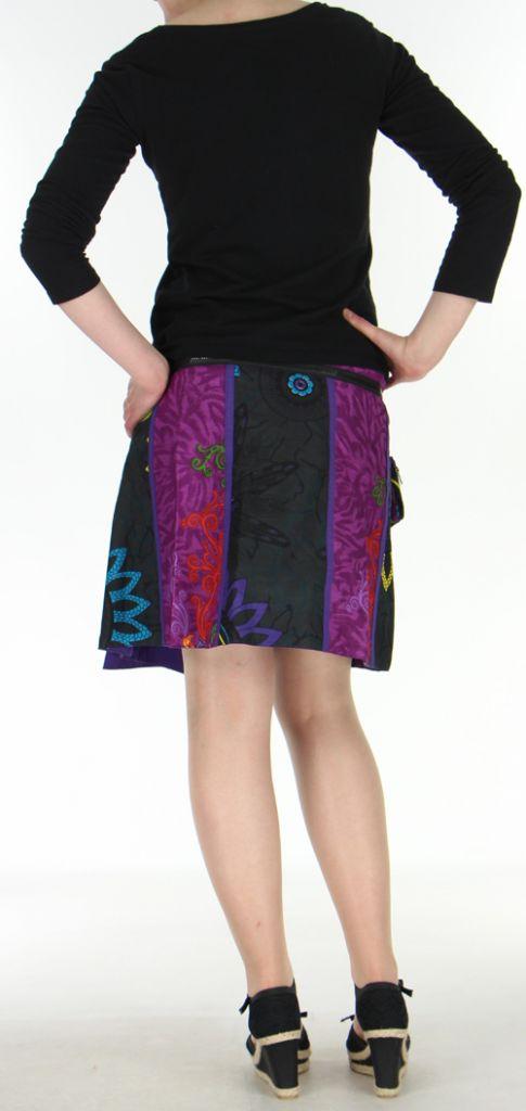 Jupe ou Surjupe courte très originale et colorée Violette Pili 272802