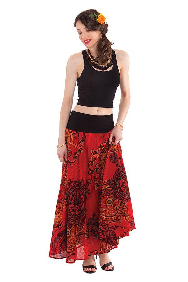 jupe longue d ete rouge rashna originale et imprimee. Black Bedroom Furniture Sets. Home Design Ideas