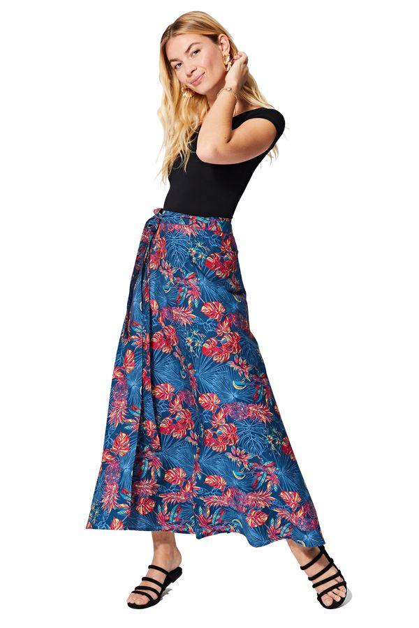 Jupe portefeuille longue femme imprimé exotique et coloré Barbie