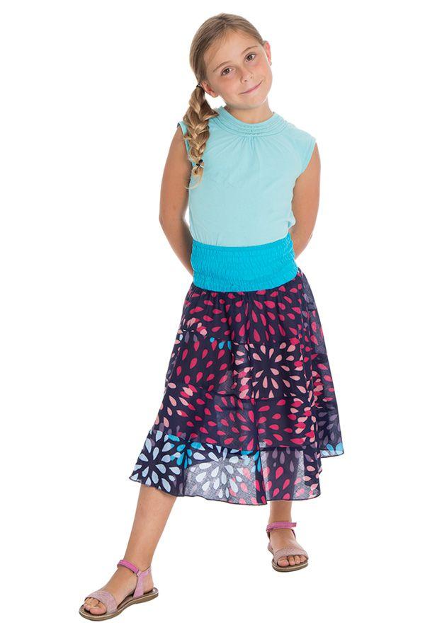 Jupe pour enfant à volants avec imprimés très colorés Khadi 290537