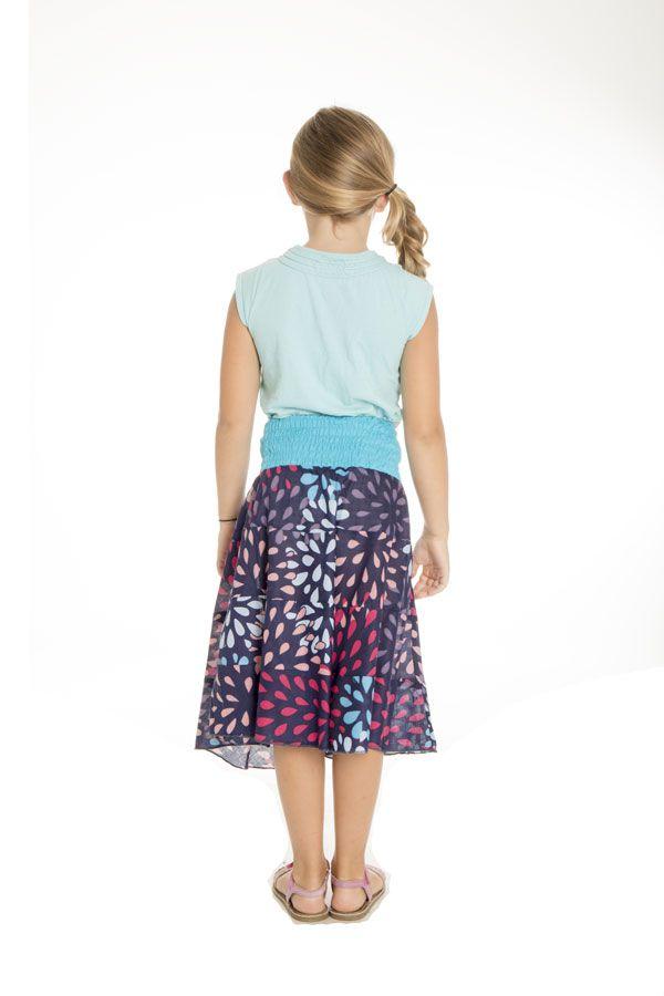 Jupe pour enfant à volants avec imprimés très colorés Khadi 290538