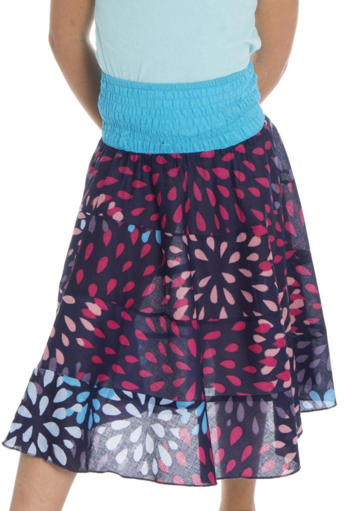 Jupe pour enfant à volants avec imprimés très colorés Khadi 294046