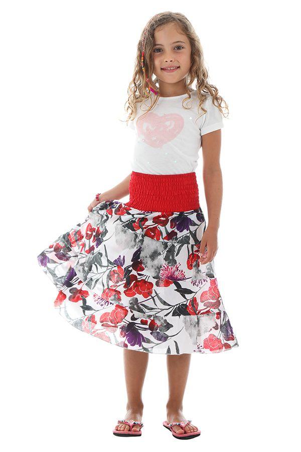 Jupe pour enfant avec smocks au dos et élégant imprimés keyla 290533