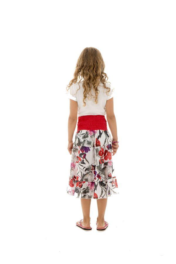 Jupe pour enfant avec smocks au dos et élégant imprimés keyla 290534