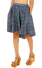 Jupe pour femme avec poches ethnique et asymétrique Louane 310110