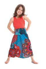 Jupe pour Fillette Ethnique et Colorée 2en1 Bagheera Bleue et Rouge 279789