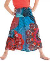 Jupe pour Fillette Ethnique et Colorée 2en1 Bagheera Bleue et Rouge 279790