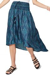 Jupe robe asymétrique femme même enceinte ethnique Fuyuka