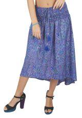 Jupe robe longue bohème ceinture élastique pour femme enceinte Cléa