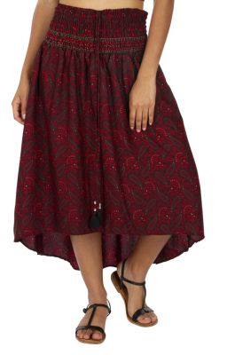 Jupe robe longue ceinture élastique pour femme enceinte