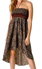 Jupe transformable en robe ethnique et originale Simba 310167