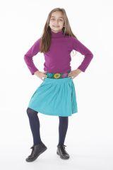 Jupe Turquoise pour Enfant Ethnique et Colorée Leila 286101