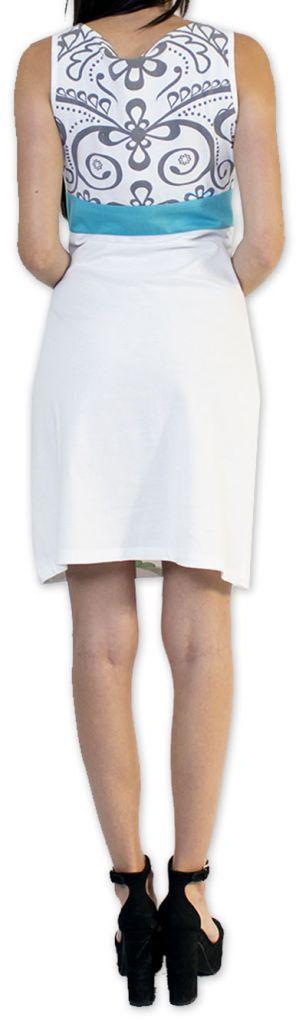 Légère et fluide robe courte et chic de soirée Blanche Annela 273248