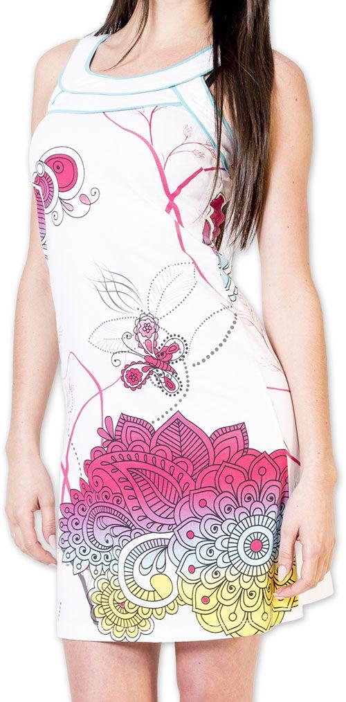 Magnifique robe courte chic et colorée Blanche Jess 273503