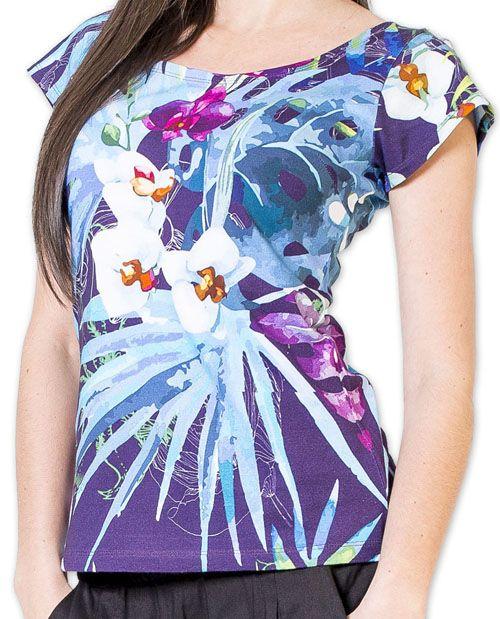 Magnifique top femme original et imprimé Violet Joée 273527