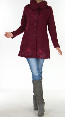 manteau cintre pour femme original et chic galcow prune. Black Bedroom Furniture Sets. Home Design Ideas
