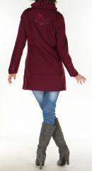 Manteau cintré pour Femme Original et Chic Galcow Prune 277438
