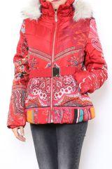 Manteau court coloré style casual pour femme Anade 304257