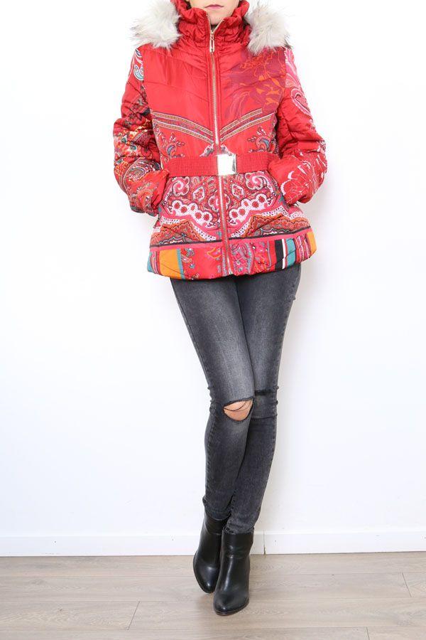 Manteau court coloré style casual pour femme Anade 304258