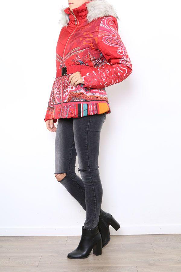 Manteau court coloré style casual pour femme Anade 304259