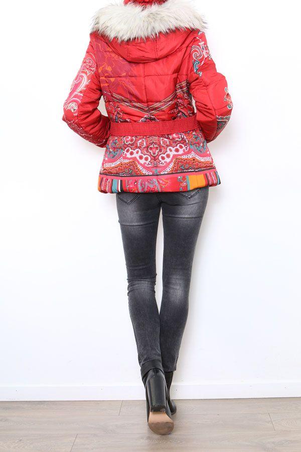 Manteau court coloré style casual pour femme Anade 304261