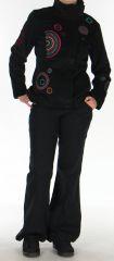Manteau court pour femme Ethnique et Original Samael Noir 276160