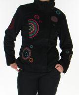 Manteau court pour femme Ethnique et Original Samael Noir 276161