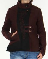 Manteau court style Officier pour Femme Chic et Original Rico Marron 278417