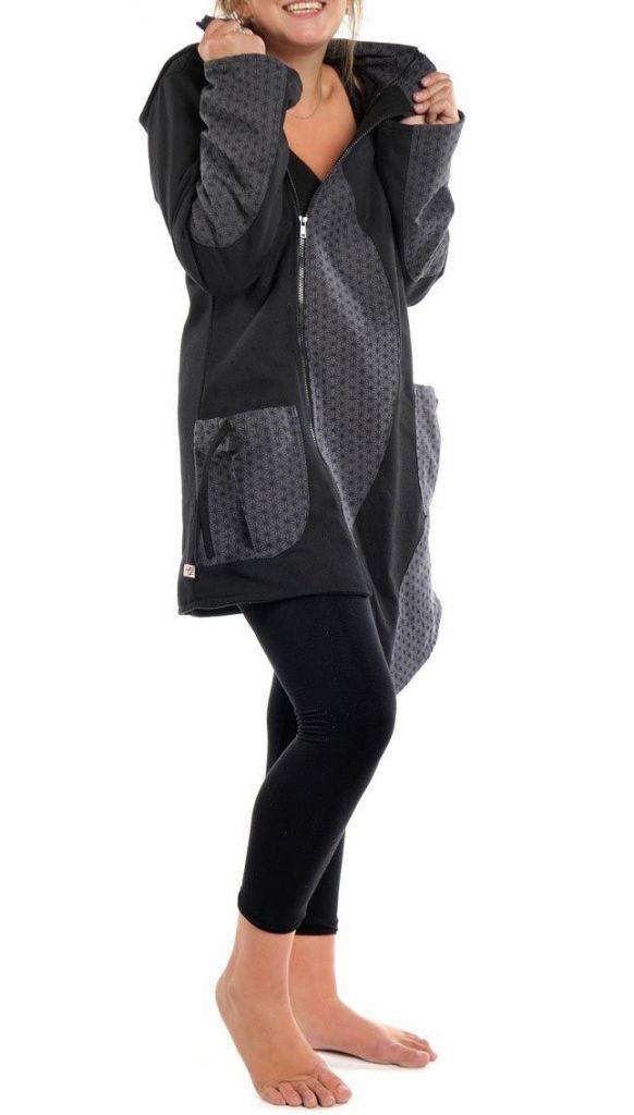 Manteau d'hiver ethnique à capuche lutin pour femme Yangy 305488