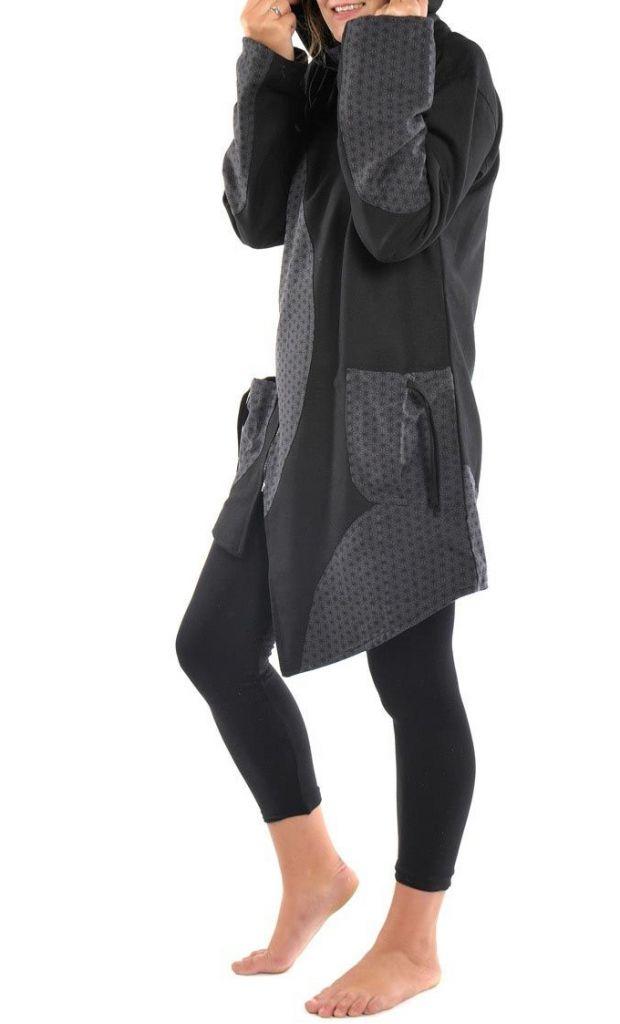 Manteau d'hiver ethnique à capuche lutin pour femme Yangy 305489