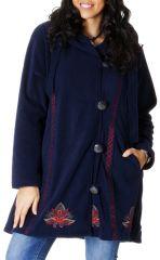 Manteau Ethnique et Grande taille en Polaire Tanner Bleu nuit 286992