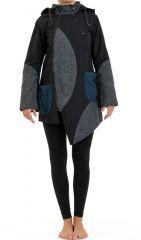 Manteau femme à capuche lutin doublé en polaire Pizda 305472