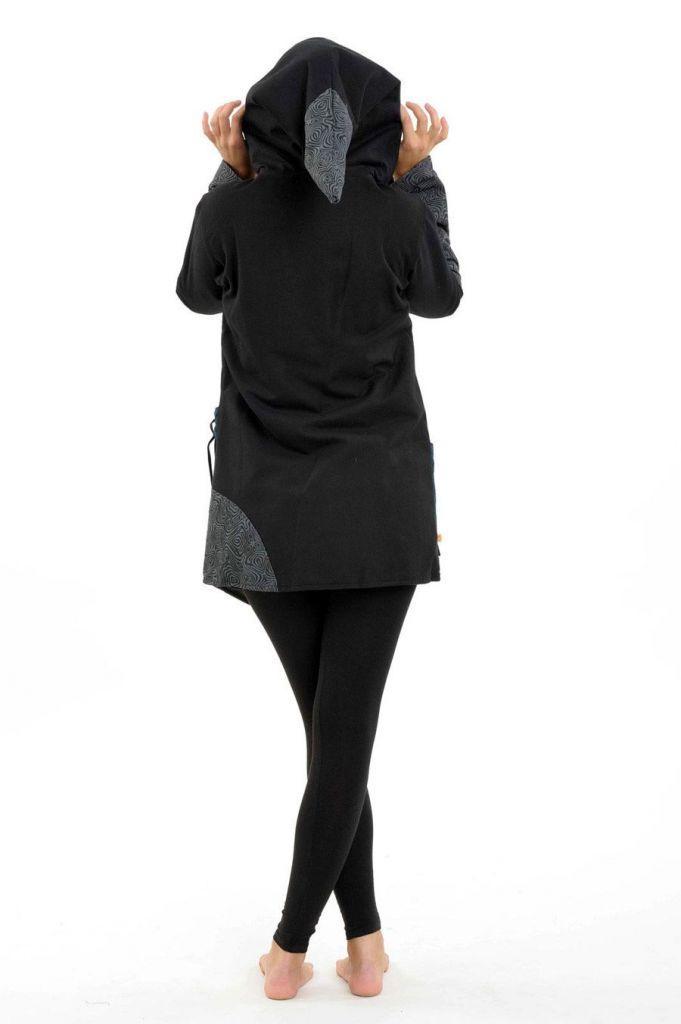 Manteau femme à capuche lutin doublé en polaire Pizda 305473