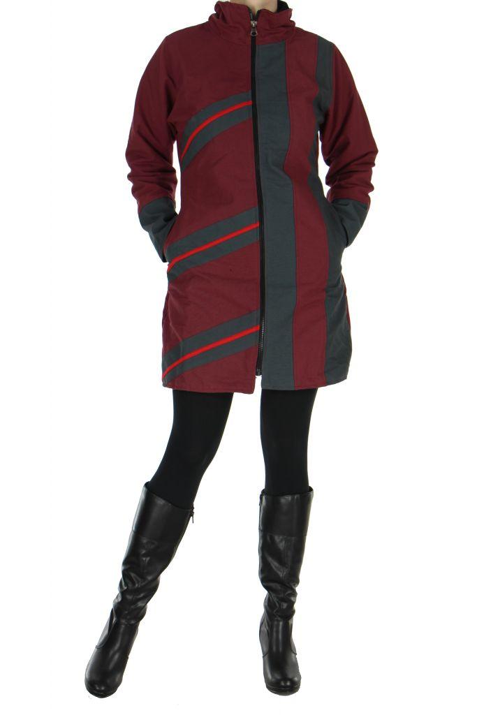 Manteau femme Ananya bordeaux 266785
