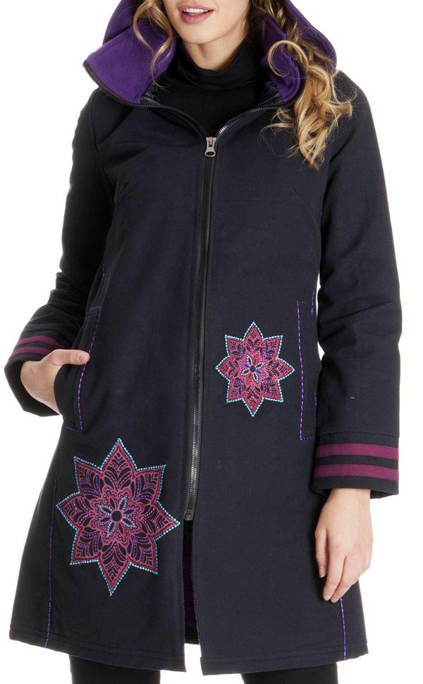 Manteau ethnique femme hiver