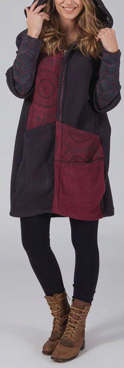 Manteau femme en polaire Ethnique et Original Elano 274584